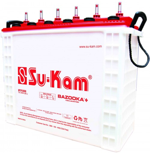 Su-Kam Tall Tubular Battery Bazooka+ / Warrior+ - 200AH