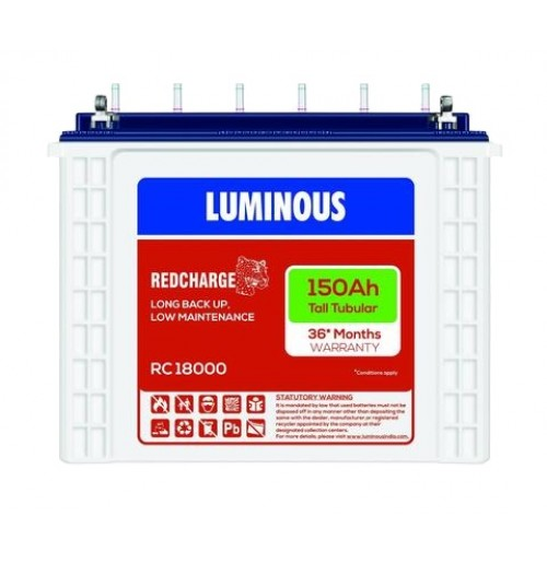Luminous Tall Tubular Battery RC18000 - 150AH
