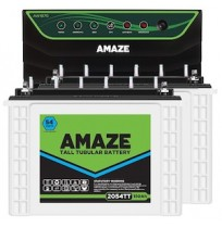 Amaze AN1675 Inverter with 2 x Amaze 2054TT 150AH Tall Tubular Battery