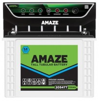 Amaze AN1075 Inverter with Amaze 2054TT 150AH TALL Tubular Battery