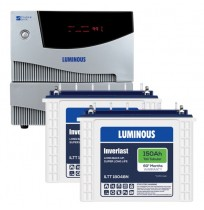 Luminous Cruze+ 2KVA Inverter with 2 x  Luminous Inverlast ILTT18048N 150AH Tall Tubular Battery
