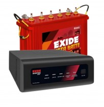 EXIDE InverterZ Star 1050 Inverter with Exide Instabrite IBTT1500 150AH Tall Tubular Battery