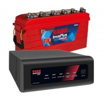 EXIDE InverterZ Star 1050 Inverter with Exide Invaplus Tubular IPST1500 150AH Short Tubular Battery