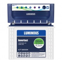Luminous EcoVolt+ 1050 Inverter + Luminous ILTT18000N Battery