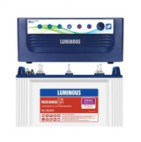 Luminous EcoVolt NEO 1050 Inverter with Luminous Red Charge RC15000 120AH Tubular Battery