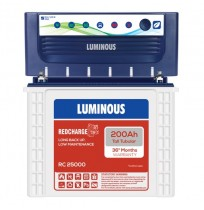 Luminous EcoVolt NEO 1050 Inverter with Luminous Red Charge RC25000 200AH Tall Tubular Battery