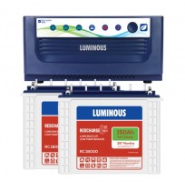 Luminous EcoVolt+ 1650 Inverter with 2 x Luminous Red Charge RC18000 150Ah Tall Tubular Battery