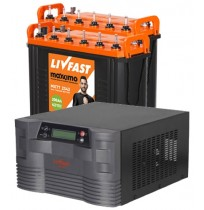 LivFast PowerStation 2KVA Inverter with 2 x 200AH Tall Tubular Batteries