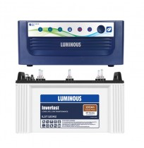 Luminous Home UPS EcoVolt+ 850 with Inverlast ILST12042 Battery