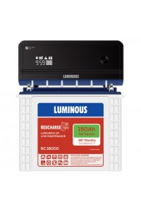 Luminous Home UPS Zelio 1100 with Red Charge RC18000 Battery